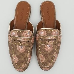 NWT Coach Fiona Signature Rose Loafer Slip On